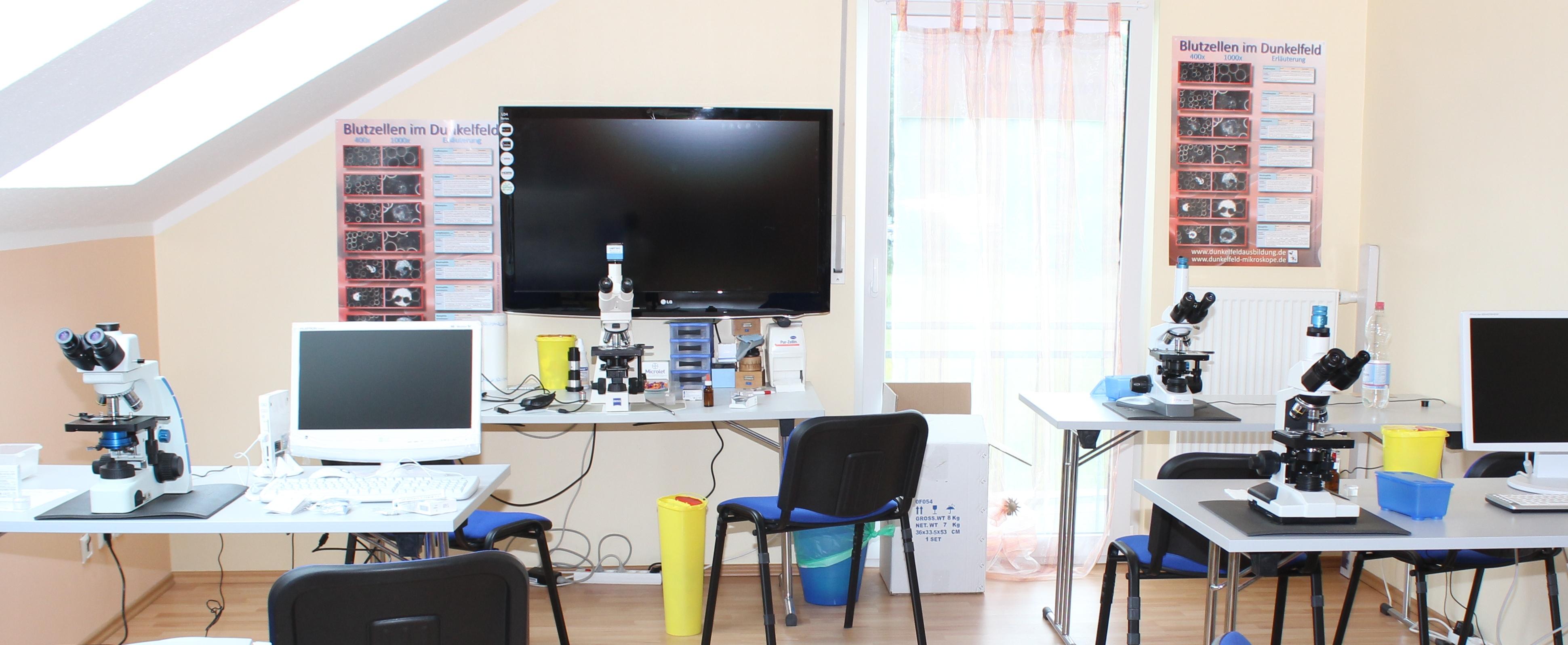 Seminarraum Dunkelfeldmikroskope